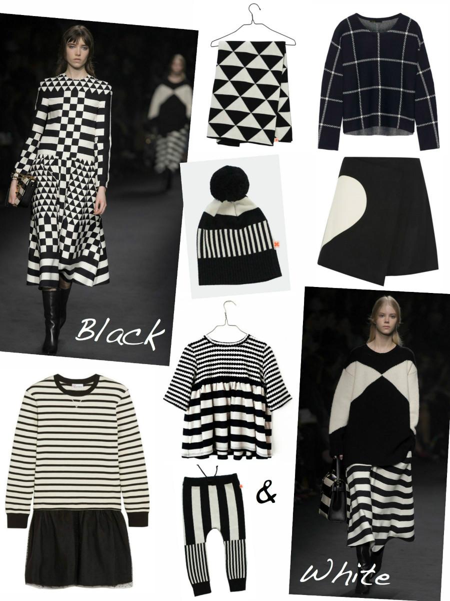 Mode in schwarz und weiß
