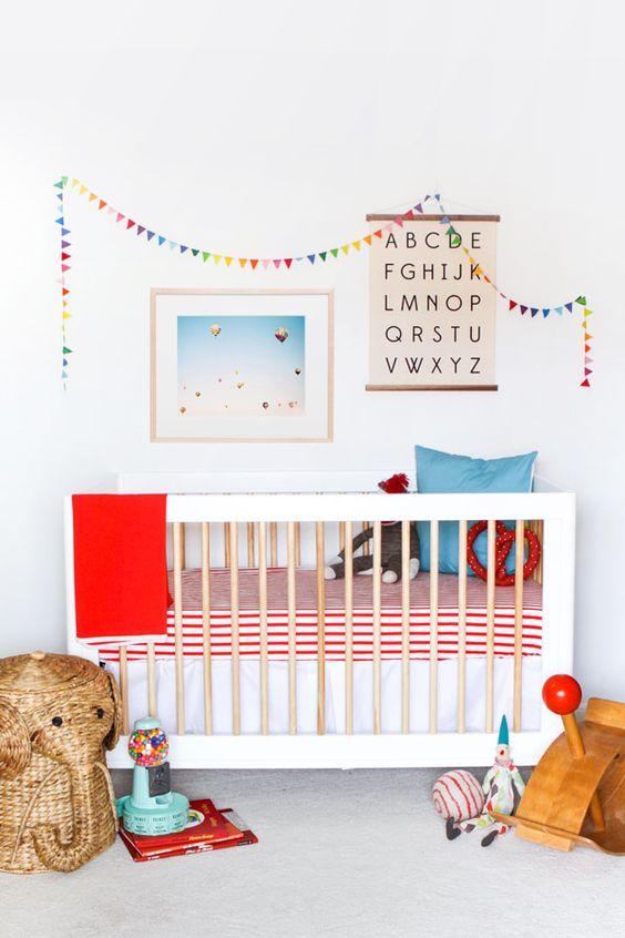 Herbststimmung-Kinderzimmer-Gitterbett
