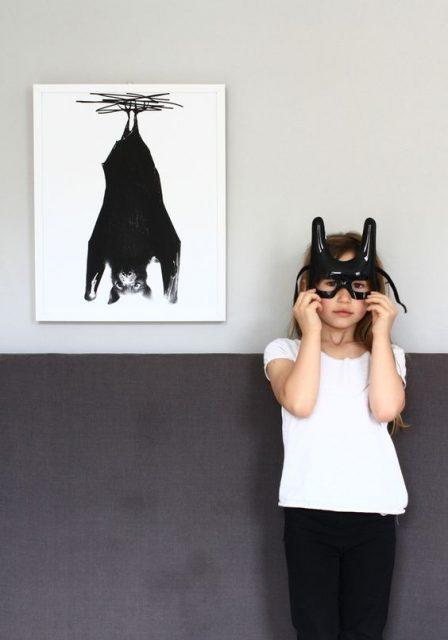 Halloween-Fladermaus-Maske