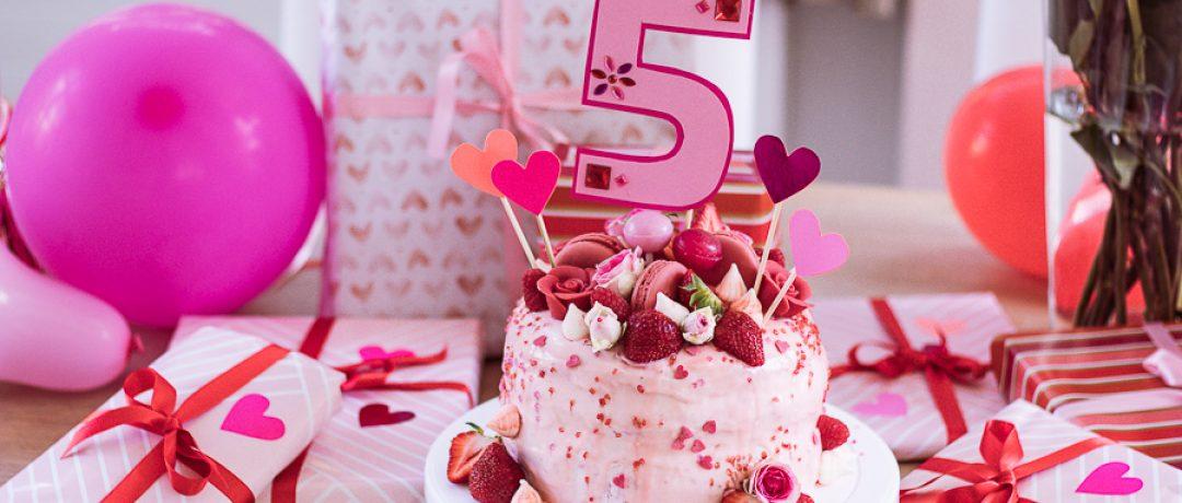 5. Geburtstag in Rosarot und die Geschichte mit der Torte