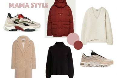 Mama Style – Chunky Sweater und Sneakers