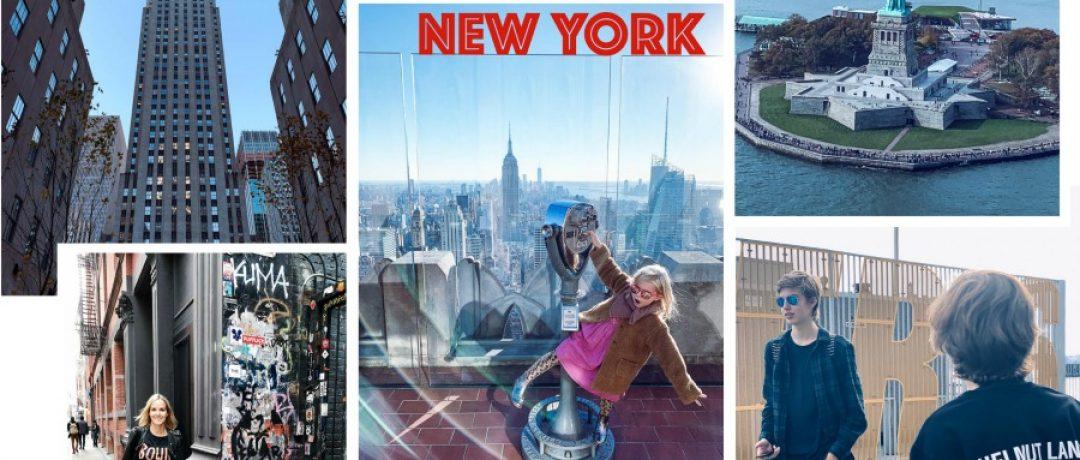 New York mit Kind und zwei Teenagern