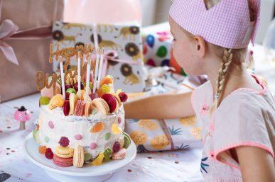 Torte und Deko zum sechsten Geburtstag