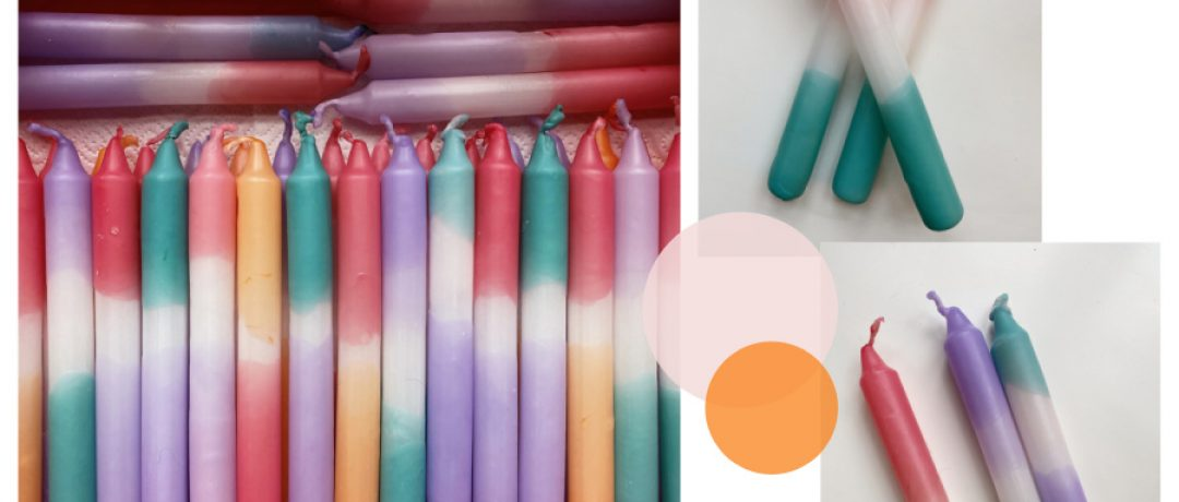 Dip Dye-Kerzen selbst färben